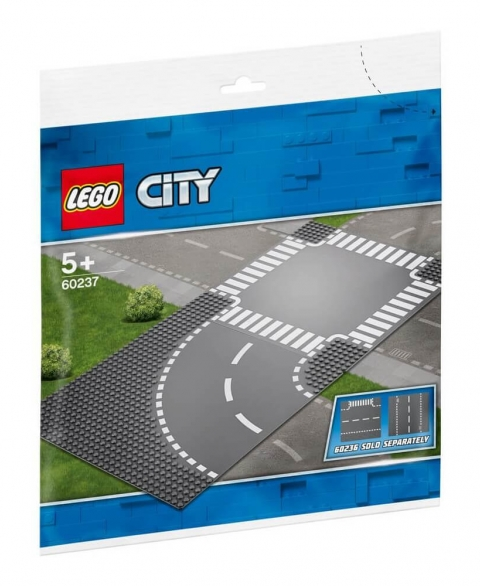 LEGO® City Curve and Crossroad plates