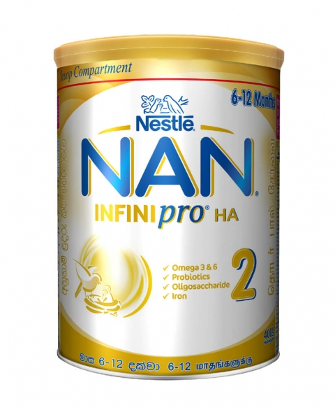 Nestle NAN INFINIpro HA 2 Follow Up Formula 6-12 months – 400g Tin