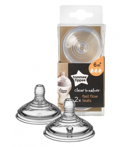 Tommee Tippee Closer to Nature Teat 2pcs - Fast Flow - 6m+
