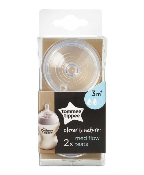 Tommee Tippee Closer To Nature Teats 2 pcs - Medium Flow - 3m+