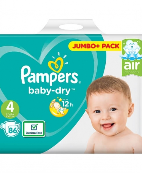 Pampers Baby Dry Size 4 86 Pcs Pack