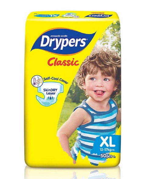 Drypers Classic Size XL 50 Pcs Pack