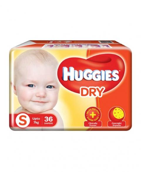 Huggies New Dry Size Small 36pcs