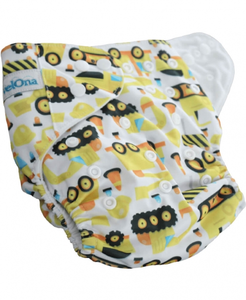 Velona Reusable Cloth Diaper - Diggers and Construction - Free Size