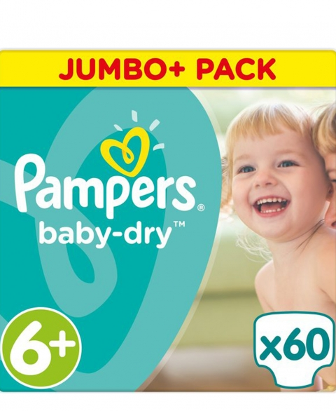 Pampers Baby Dry Size 6+ 60 Pcs Pack