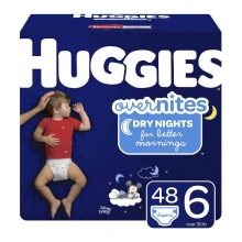 Huggies Overnites Diapers - Size 6- 48 pcs