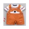 Little Fox Orange Dungaree