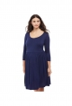 Plus Size Fit And Flare Maternity Dress